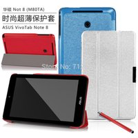 asus tablet vivotab - Luxury Silk Series Tri Folding pu Leather Stand Case for Asus VivoTab Note quot M80TA Tablet