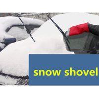 Wholesale DDA3764 High quality Car gloves warm snow shovel ice shovel defrost type scraper shovel ice car snow brush with scraper