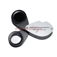 Wholesale Jadeite Chelsea Color Filter X mm Jewelry Triplet Loupe w Leather Case Emerald Gemstone Testing Tool Gemology Instrument