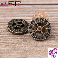 al por mayor latón barato pulsera-17 mm accesorios de bricolaje joyas de aleación Zakka antigua de bronce del zodiaco encantos para la pulsera, de metal de bronce tibetano colgantes baratos de la vendimia