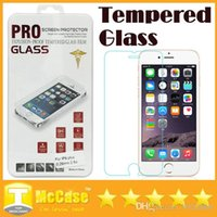 Wholesale 2 D Tempered Glass Screen Protector mm Treated Glass iphone plus iPhone6 iPhone Samsung S3 S4 S5 Note Note
