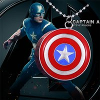 america offers - 2016 Pendant Necklaces Special Offer Pendant Necklaces Limited Middle Eastern Unisex High quality Film Captain America Drip Necklace Badge