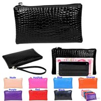 Cheap Hot Sales Women Lady Clutch Bags Wallets Coin Purses Phone Handbag PU Leather Alligator Fashion 7 Colors Size 20*11CM BX120 Free Shipping