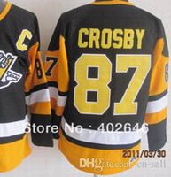 baseball team jerseys lot - 30 Teams New can mix order any items in a Pittsburgh Sidney Crosby CCM black hockey jerseys