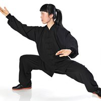 Wholesale and tai chi clothing cotton long sleeved autumn high grade breathable clothes and Taijiquan martial arts clothing