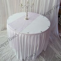 Wholesale 20pcs cm Beautiful Crochet Organza Table Runner In Lavender Color Wedding And Banquet Favor Decoraions