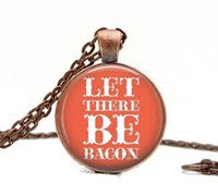 bacon pictures - Let There Be Bacon Necklace Glass Art Pendant Picture Pendant Photo Pendant