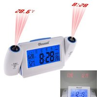 acoustic clocks - High Quality Digital LCD Snooze Dual Projection Alarm Clock Clapping Voice Controlled despertador reloj despertador