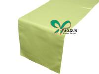 apple green table runners - Apple Green cm cm Polyester Table Runner For Wedding