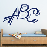 abc decals - Hot Sale Nursery Wall Decal Decorative Removable Home Decor Art Vinyl ABC Wall Stickers Letters
