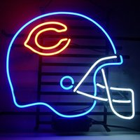 beer football helmet - 17 quot x14 quot Football Helmet Real Glass Beer Bar Neon Light Signs for Home Store Beer Bar Pub Restaurant Shops Display Si