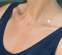 Wholesale New Arrive Simple Gold Plated Birds Necklace Clavicle Chains Charm Womens Fashion Jewelry