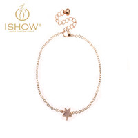 Wholesale 2016 Newest Arrival Foot Chain Solid Star Shape Alloy Charm Pendant Foot Bracelet Hot Trend Exquisite Anklets For Female