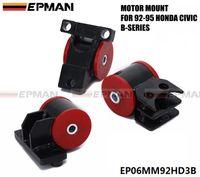 Wholesale EPMAN FOR HONDA CIVIC EJ EG EH DX SI SOLID ENGINE MOTOR MOUNT B16 B18 B SERIES ENGINE SWAP CH EP06MM92HD3B