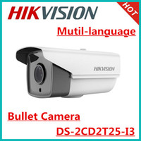 Wholesale Mutil language Hikvision ip camera MP ICR Day Night bullet Network Camera DS CD2T25 I3 IR range m waterproof ip67 POE camera