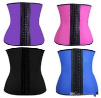 best waist cinchers - XS XL Colors Women Latex Rubber Waist Training Cincher Underbust Corset Body Shaper Shapewear HOT Best quality