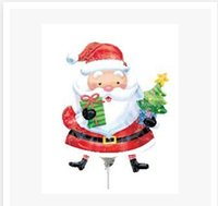 Wholesale 3 styles Handheld Santa Claus Christmas snowman balloon inflatable helium Foil balloon for Wedding birthday party decorations C1562