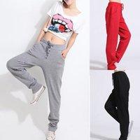 Wholesale 2015 Fashion Korean Style Casual Yoga Pants Drawstring Women Sport Pants Slim fit suit Harem Trousers Sports Pants