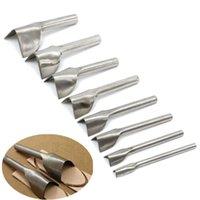 Wholesale 8pcs set Steel Leather Craft Half Round Cutter V Shape Punch Strap Belt Wallet Tactical End Garden DIY Handwork MM MM Tools