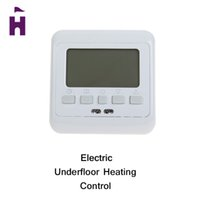 Wholesale FOUREON Room Floor Heating Thermostat Temperature Controller with LCD Display Weekly Programmable Thermostat Green Backlight