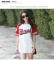 Wholesale New Summer Hip Hop Sports Fashion Baseball T shirt Korean style Loose Unisex Mens Womens Tee Tops Tide mujeres camiseta