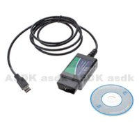 Wholesale HOT green USB ELM327 OBD OBDII scanner car diagnostic interface scan tool Code Readers amp Scan Tools