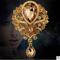 amber cross pendant - Latest selling high grade diamond brooch pendant combined foreign trade explosion models in Europe and America female glass brooch spot