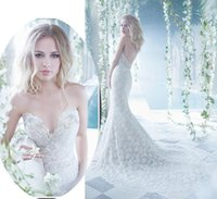 Trumpet/Mermaid Model Pictures Sweetheart Sexy Ivory Sweetheart Lace Mermaid Wedding Dresses Beads 2015 Zuhair Murad Bridal Gown With Open Back Sheath Chapel Train Beading Backless