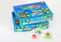 Wholesale 240pcs Children are the most popular gifts promotional toys colorful flash to jump ball Luminous crystal elastic ball toys