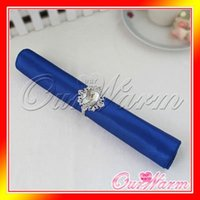 Wholesale Royal Cobalt Dark Blue Satin Table Dinner Napkin quot Square Handkerchief Multi Purpose Wedding Party