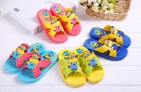 Wholesale Trader Summer new colours children s sandals slippers children despicable me minions cartoon sandals Sandy beach sandals pairs