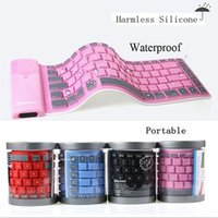 wireless silicone keyboard - Bluetooth keyboard for ISO Android phone Tablet Universal Wireless Bluetooth portable keyboard waterproof foldable silicone soft keyboard
