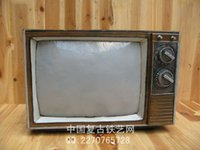 antique television set - Antique old fashioned television set reminisced model decoration swithin props photo props