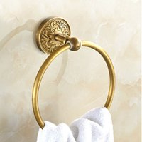 artistic rings - Artistic Bathroom Towel Ring Antique Brass Bathroom Accessory Round Shape Towel Rack
