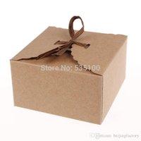 Wholesale Retro Mini Kraft Paper Box DIY Wedding Gift Favor Boxes Party Candy Box Mini Single Cake Box Packaging Set Of A2
