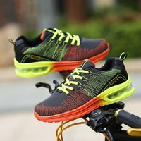 Wholesale Autumn and winter breathable woven casual men s shoes Fly line of air cushion suspension basketball shoes Men s sports running shoes
