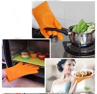 Wholesale 1PCS Heat Resistant Silicone Glove Cooking Baking BBQ Oven Pot Holder Mitt Kitchen