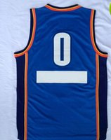 Cheap New Arrival Blue #0 Russell Westbrook Jersey 2015 Christmas Day Jersey High Quality Basketball Jerseys Men Uniforms Cheap Basketball Wears