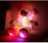 al por mayor oso de peluche de los bebés-2015 Nueva ligth hasta LED parpadeante gigante de los osos de peluche juguetes de peluche de colores cumpleaños regalos cambiado Baby Bear muñeca de Navidad para niñas