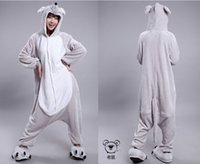 Unisex adult male onesie - 2015 Cosplay Winter Mouse Kigurumi Pajama Flannel Pajamas Hooded Conjoined Sleepwear Costumes Adult Unisex Onesie Soft Sleepwear CC01