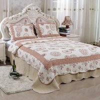 bedsheet fabrics - Print Countryside Style Bedsheet Cotton Filling Microfiber Fabric Handmade Quilt Patterns Luxury Quilts And Coverlets