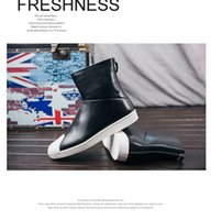 Wholesale High end European and American foreign trade brand new autumn and winter men s leather high top shoes British fashion shoes