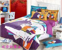 Cheap 3D Totoro purple Kids cartoon bedding comforter set children queen size bedspread sheet duvet cover quilt linen home texile