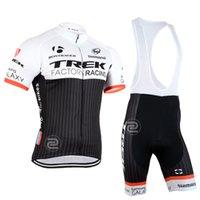 trek - 2015 TREK FACTORY RACING TEAM BLACK T58 Short Sleeve Cycling Jersey Bike Bicycle Wear BIB Shorts Size XS XL