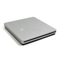 Wholesale DHL Shipping Super Slim USB Slot In DVD CD Drive Burner CD RW DVD ROM DVD RW External Optical Drive Silver goodbiz