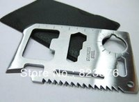 Wholesale cm in Pocket Survival Camping Tool with Leather Case Function Card Knife Outdoor