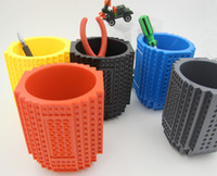 Wholesale This is not just a pen holder also is a creative Coffee Mugs Cups Put all your items inside BUILD ON BRICK DESK TIDY