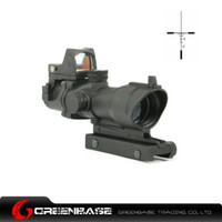 Wholesale Tactical Trijicon x32 ACOG TA01NSN Type Cross Rifle Gun Scope w Docter Brightness Sensitive Red Dot For AR15 Hunting Scopes Optics NGA0423
