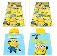 Wholesale Hot sale3 styles Despicable Me towel minions cloak towels Printed Cotton Towel Baby Cartoon Bath Towels Kids Beach Towels