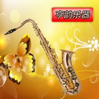 Wholesale Professional Preferred B flat tenor saxophone playing musical instruments phosphor materials wind instruments